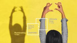Pantone 发布2021年度色彩:极致灰(Ultimate Gray)和亮丽黄(Illuminating)